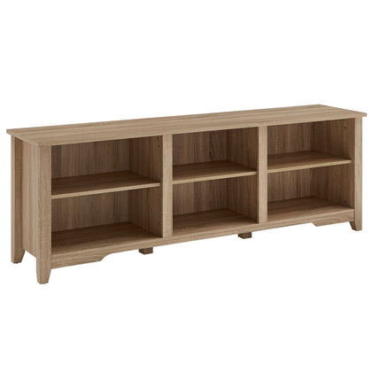 Oak Finish 70-inch TV Stand