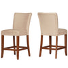 Heathered Weave Parson Dining Chair (Set of 2) - Light Brown Microfiber