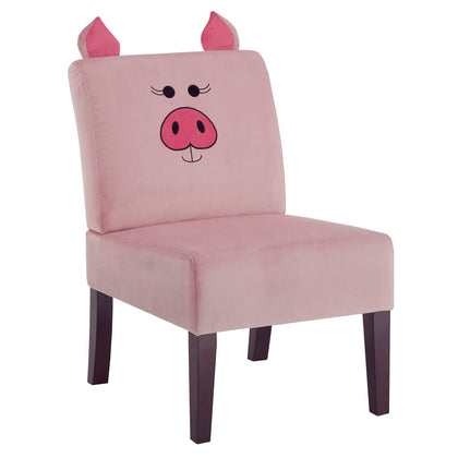 Velvet Pig Accent Chair