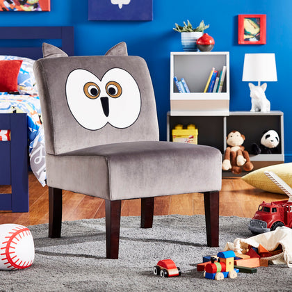 Velvet Animal Accent Chair - Owl