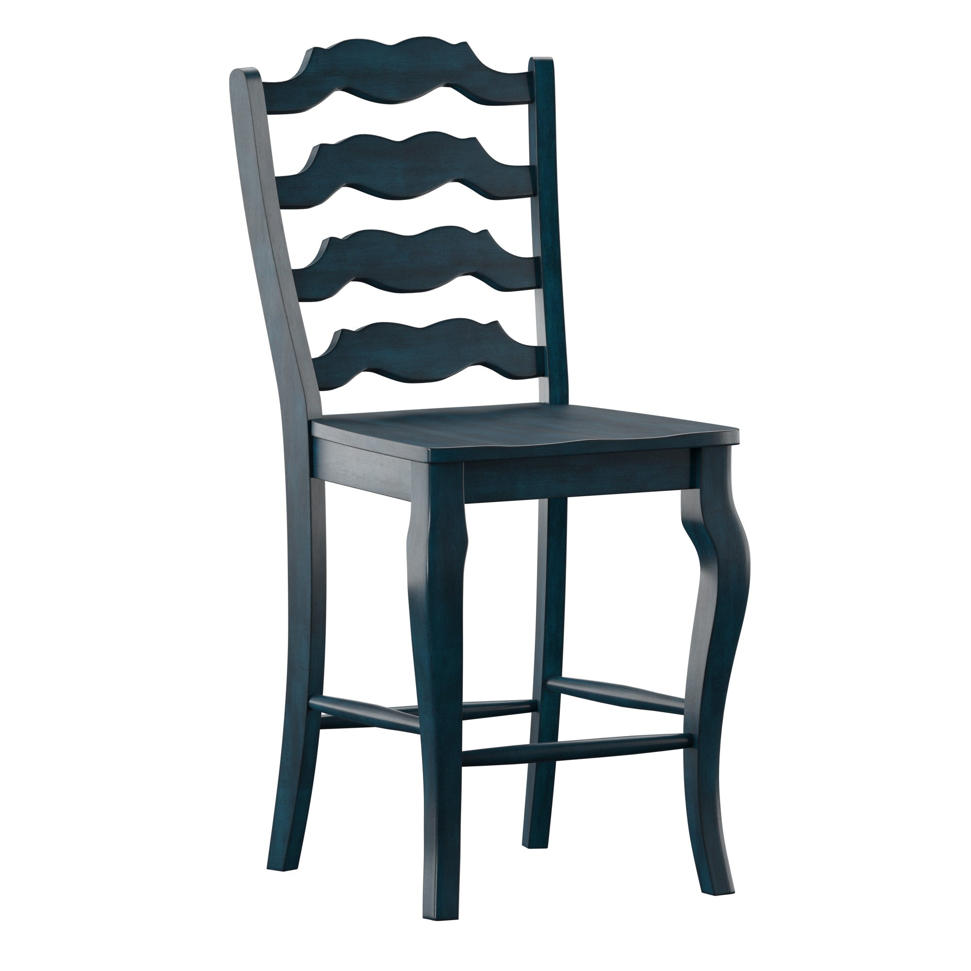 French Ladder Back Wood Counter Chair (Set of 2)