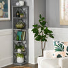 X-Frame 5-Shelf Bookcase - Grey