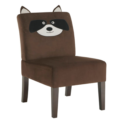 Velvet Animal Accent Chair - Raccoon