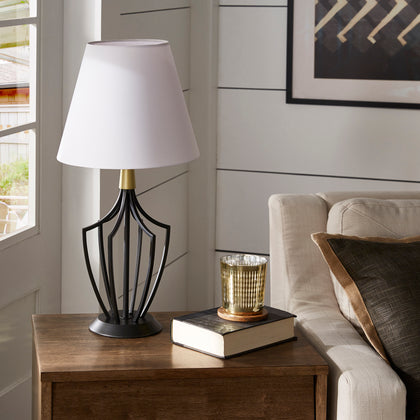 Matte Black Finish Modern 1-light Table Lamp