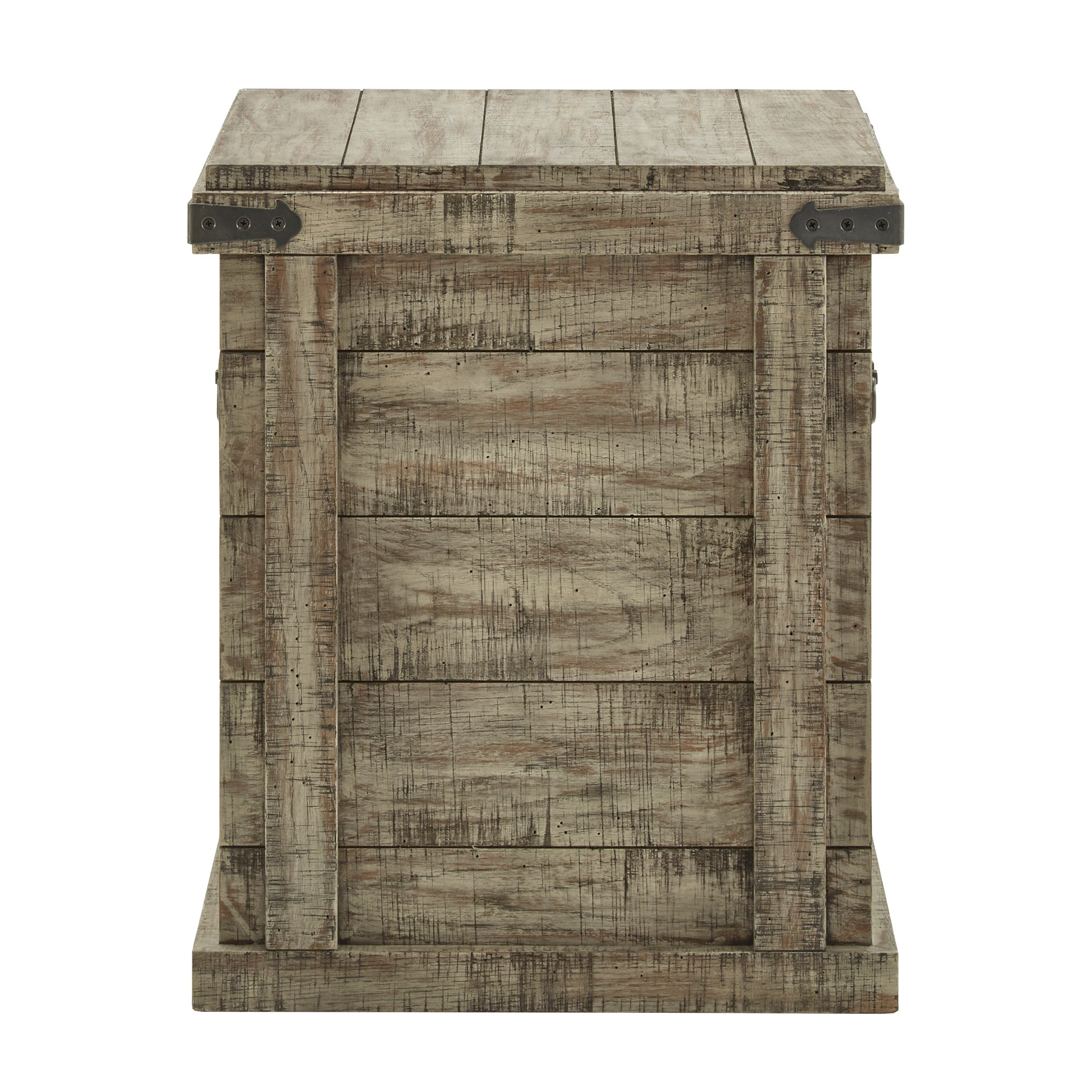 Reclaimed Grey Finish 1-drawer End Table