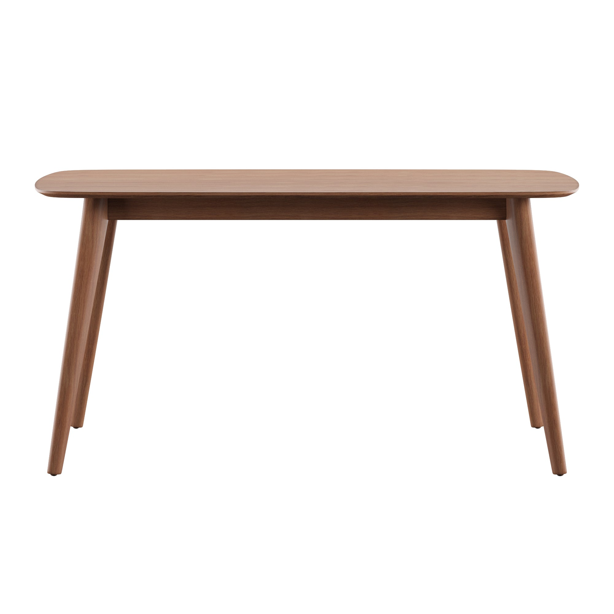 Mid-Century Modern Tapered Dining Table - Natural Finish, 59-inch