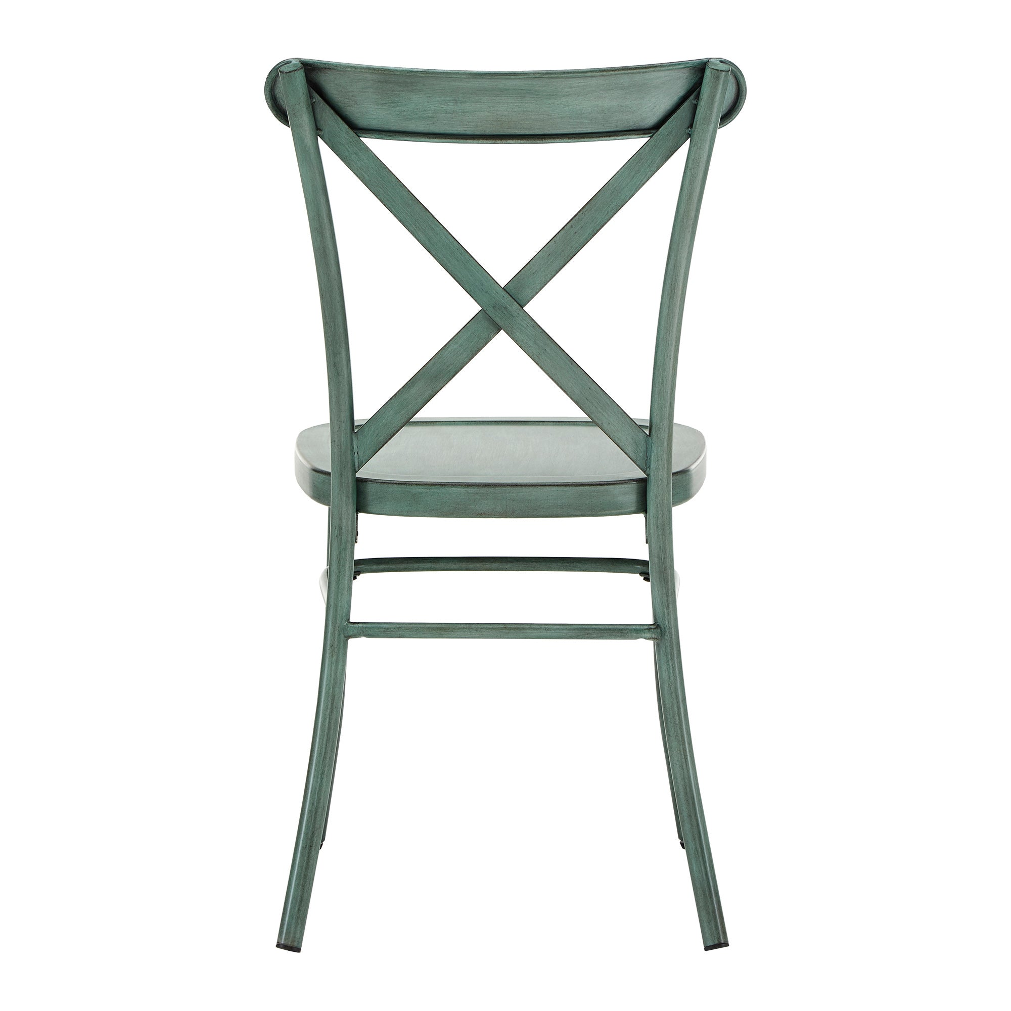 Metal Dining Chair (Set of 2) - Antique Sage Green
