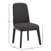Black Heathered Dining Chair (Set of 2)