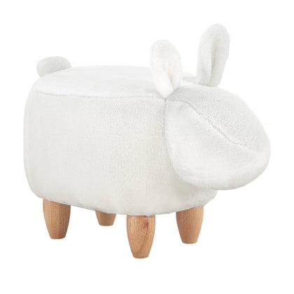 Animal Ottomans - White Rabbit