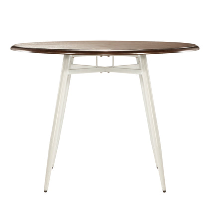 Two-Tone Wood Dining Table - White Base