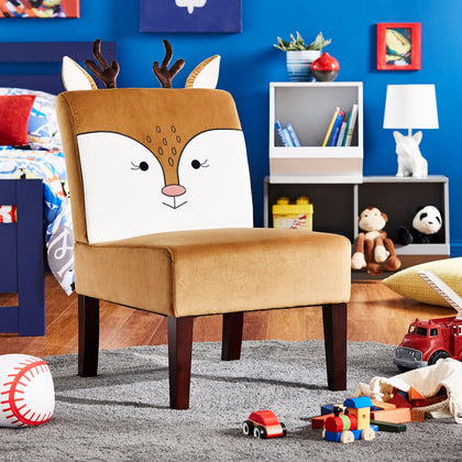Velvet Deer Accent Chair