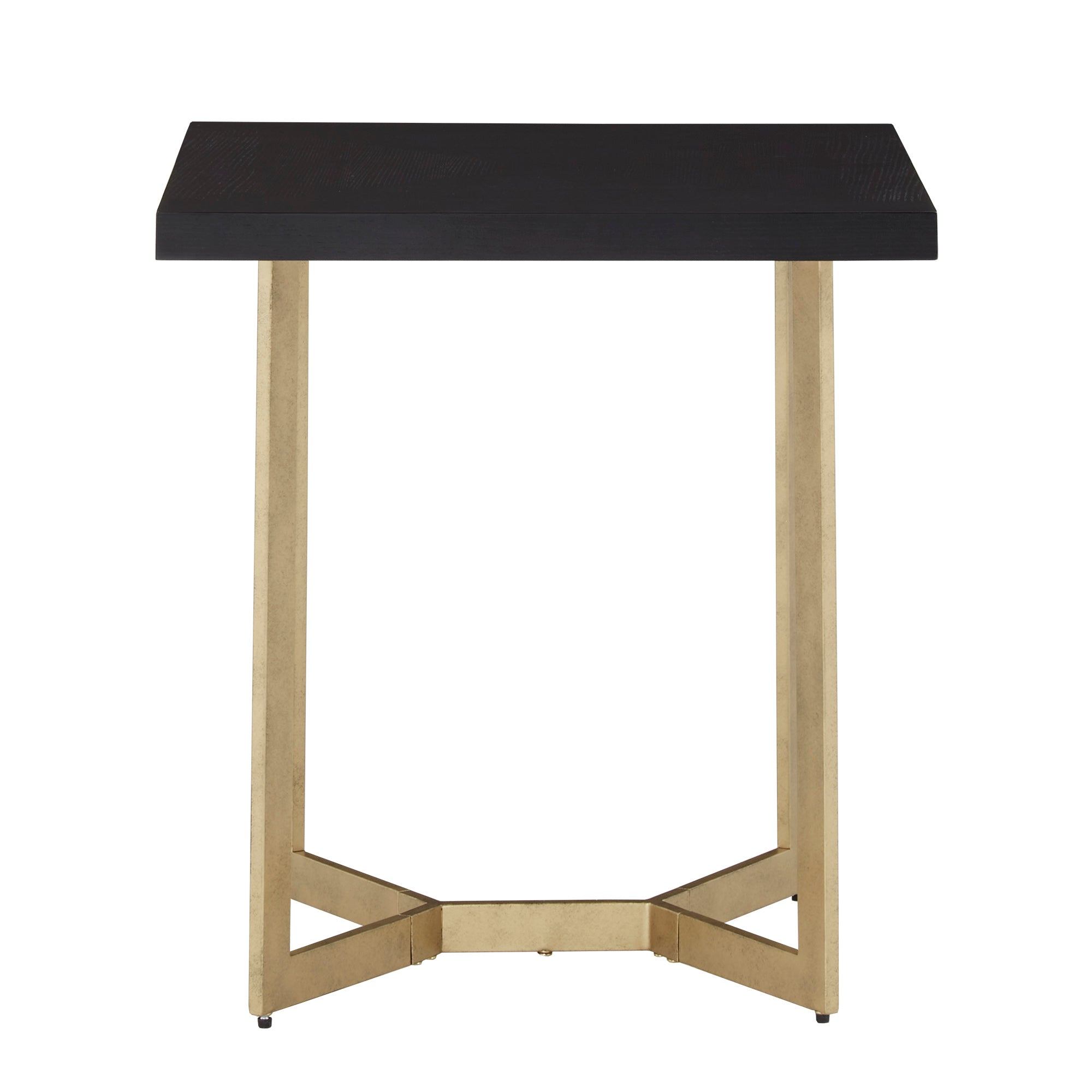 Black and Gold Metal Base End Table