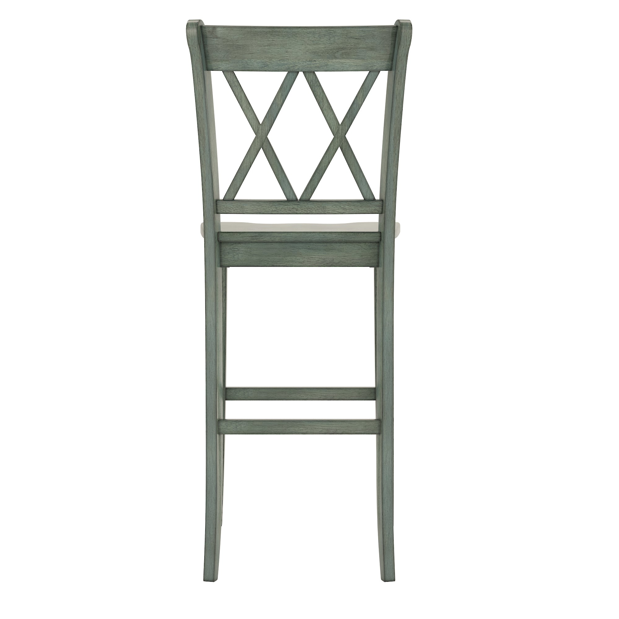 Double X Back Bar Height Chairs (Set of 2) - Antique Sage Finish
