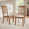Slat Back Wood Dining Chair (Set of 2) - Oak Finish