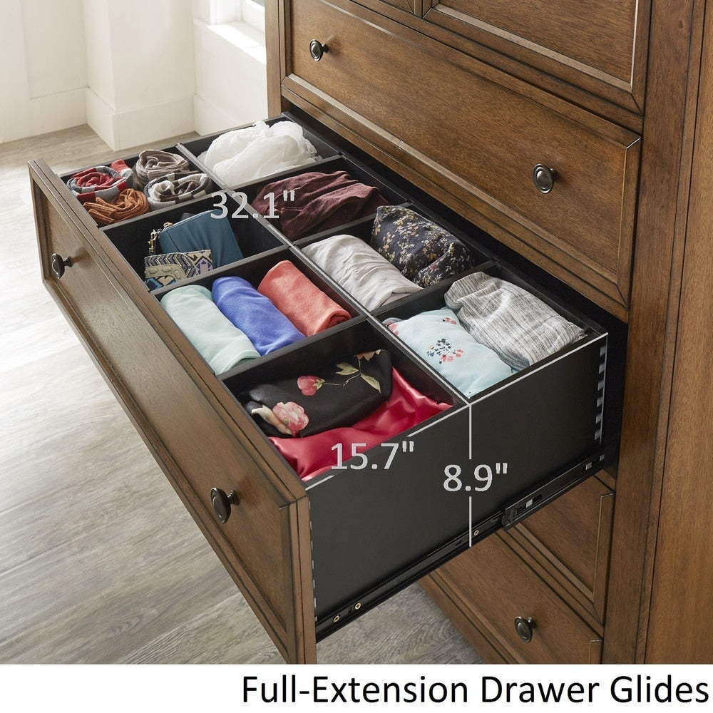 5-drawer Wood Modular Storage Chest - Antique Grey Color Finish
