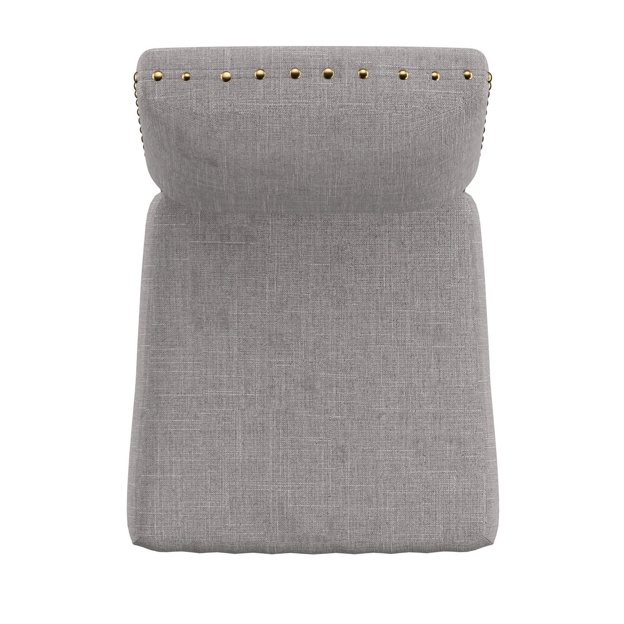 Nailhead Linen Upholstered Dining Chairs (Set of 2) - Grey Linen