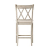 Double X-Back Counter Height Chair (Set of 2) - Antique White