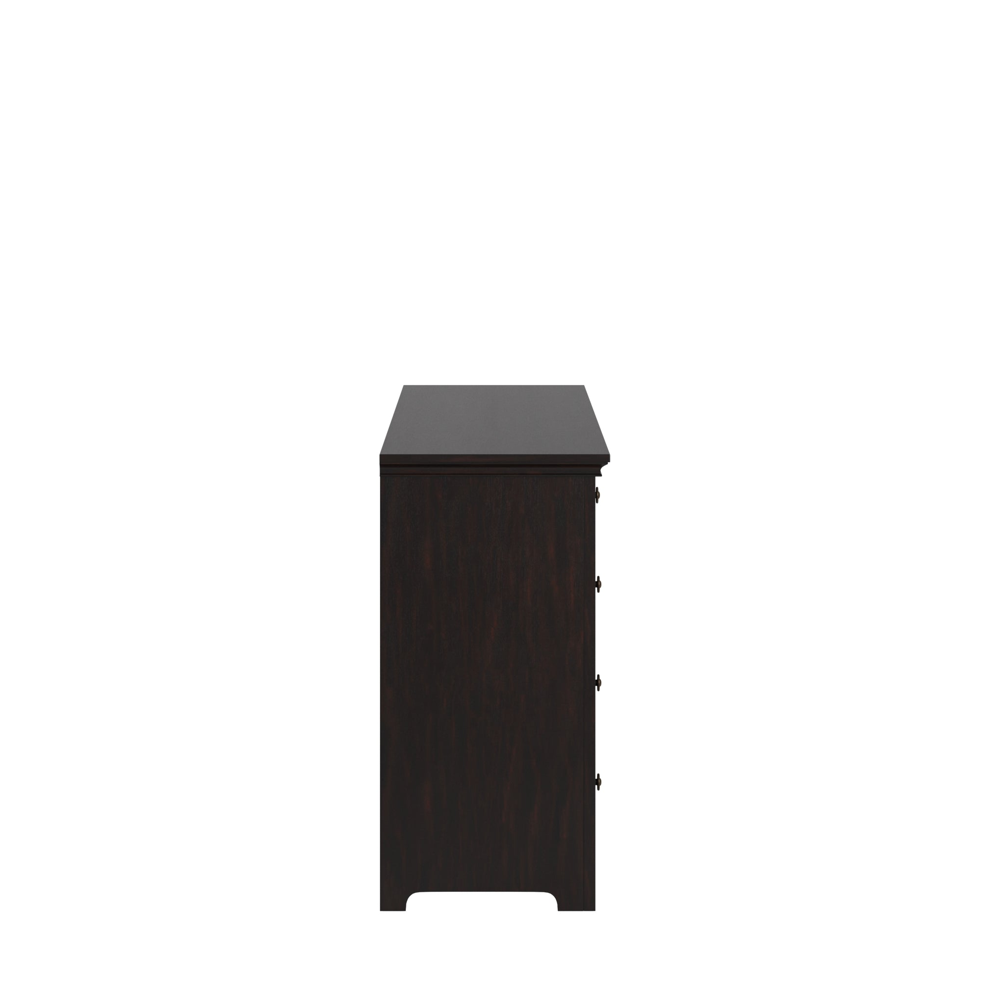 9-drawer Wood Modular Storage Dresser - Black Color Finish