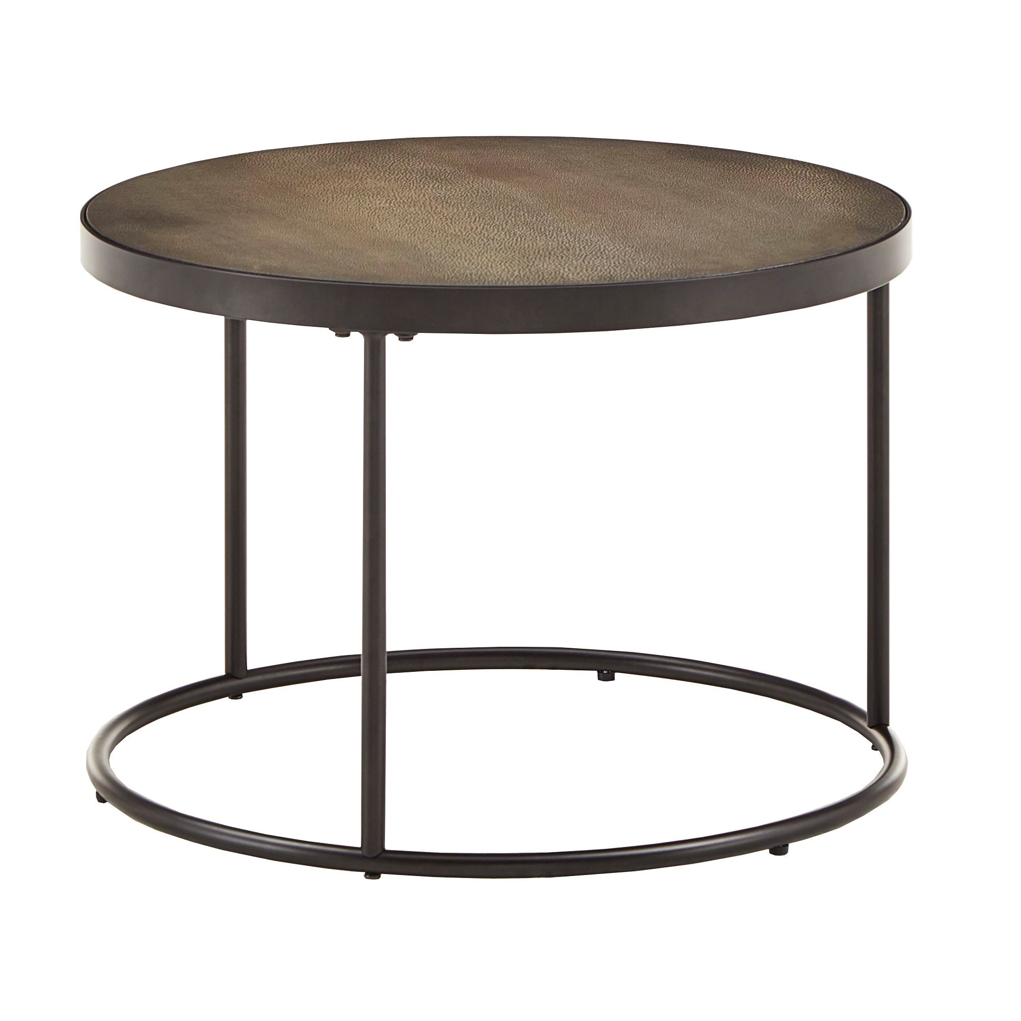 Faux Stingray Round Nesting Coffee Table