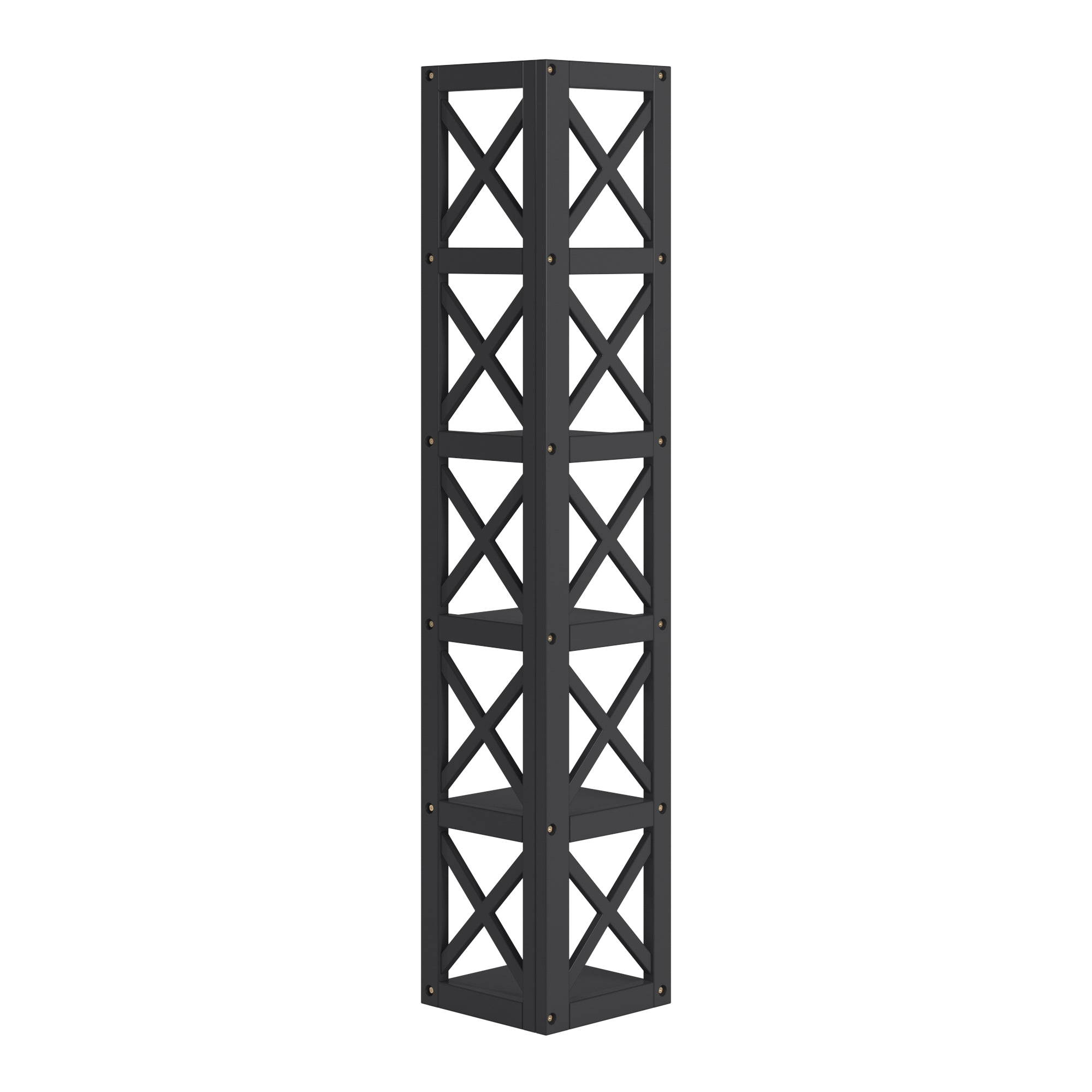 X-Frame 5-Shelf Bookcase - Black