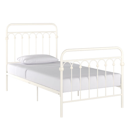 Metal Arches Platform Bed - White