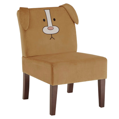 Velvet Animal Accent Chair - Dog