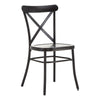 Metal Dining Chair (Set of 2) - Antique Black Finish