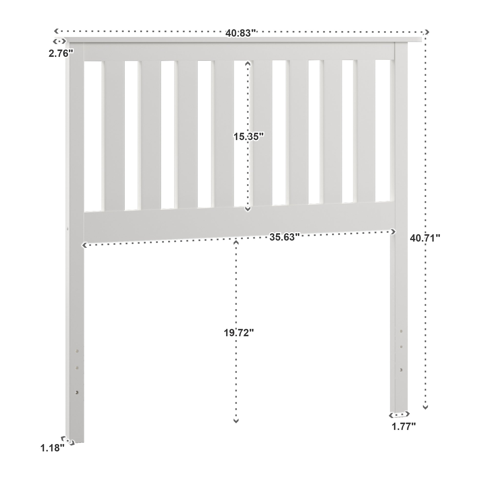 Mission Slat Wood Headboard - Twin
