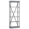 Cornice Etagere Bookcase - Grey Color Finish