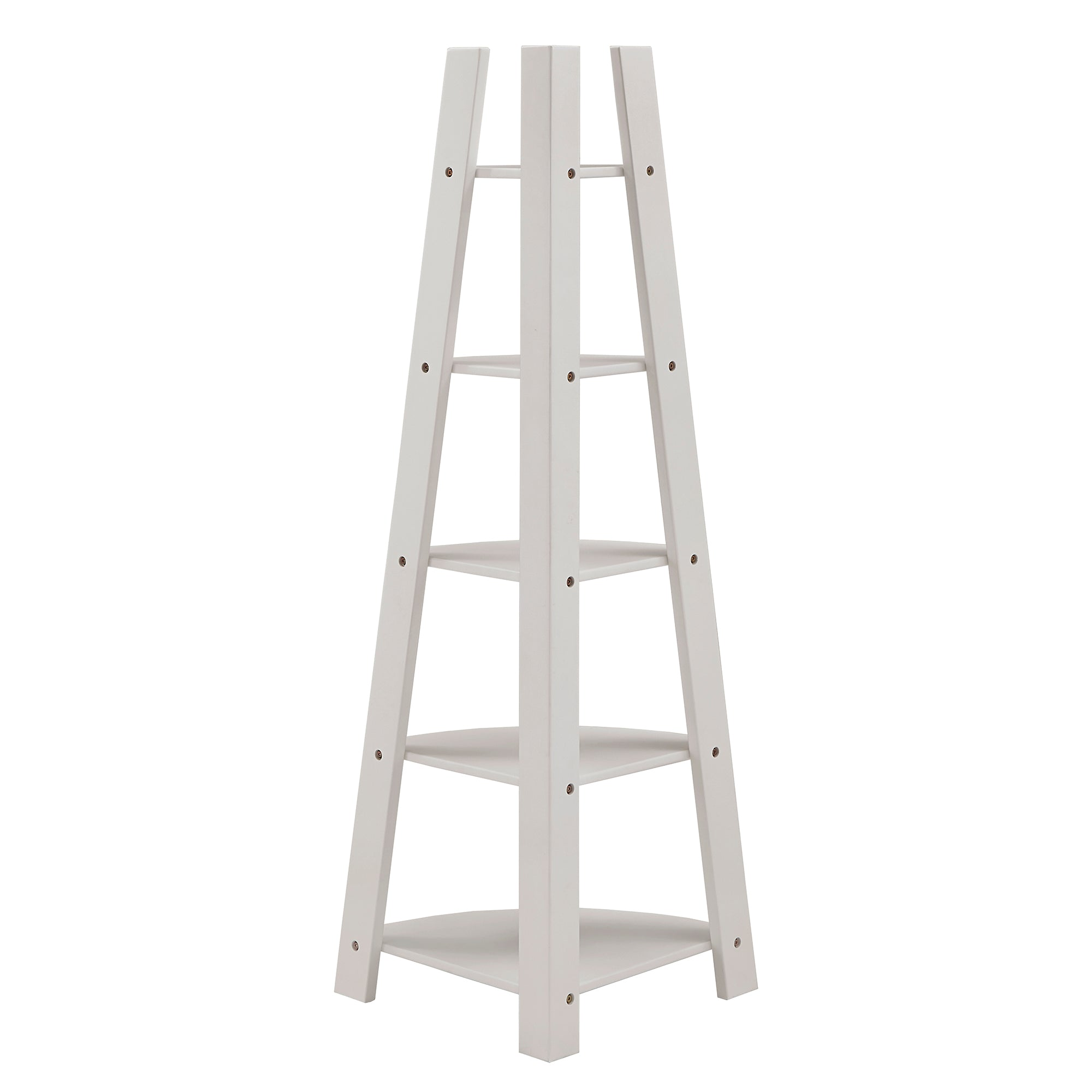 Corner Ladder Bookcase - White