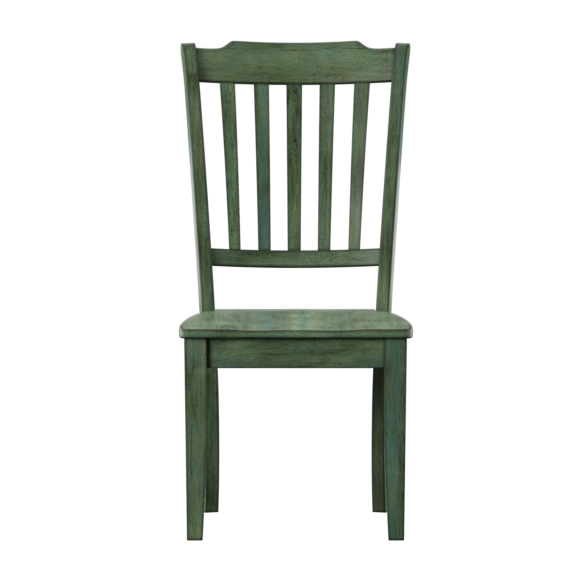 Slat Back Wood Dining Chair (Set of 2) - Antique Sage Green