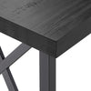 Rustic X-Base Desk - Black Finish