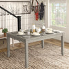 Solid Wood Rectangular Dining Table with Two Drawers - Antique Grey