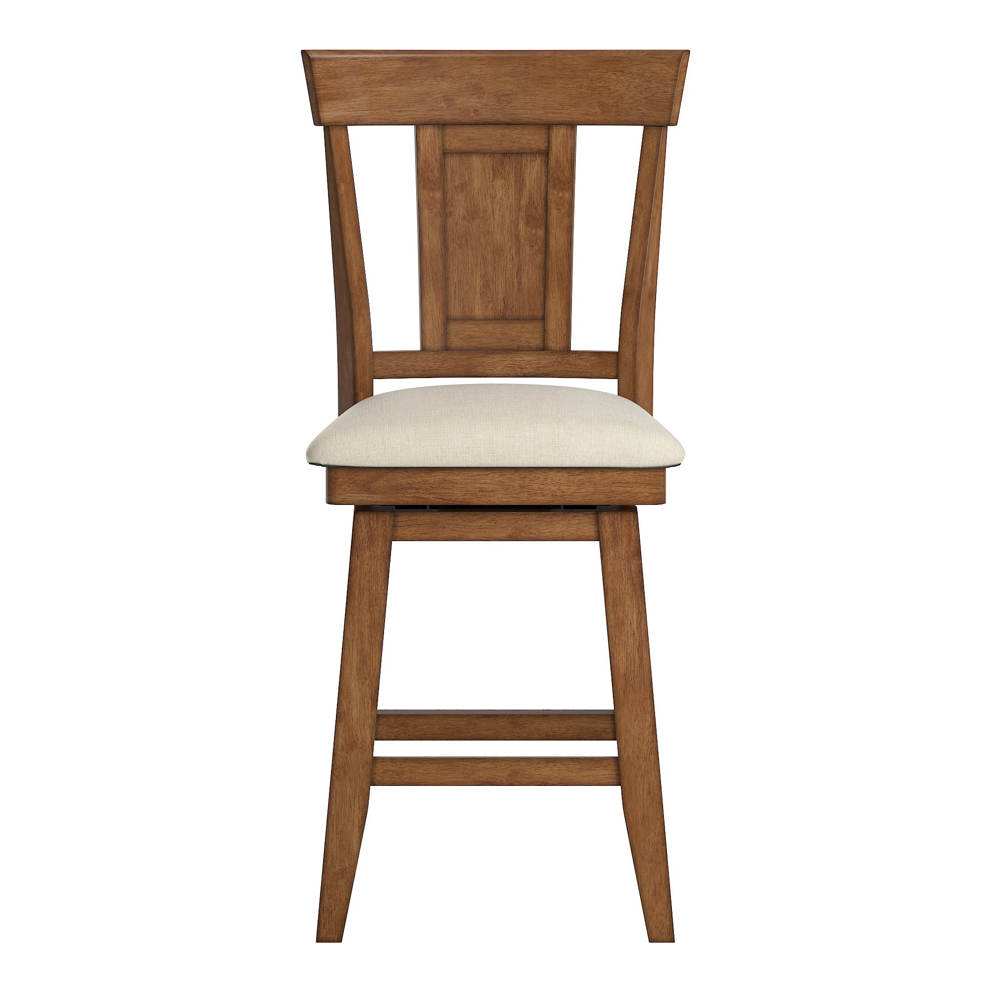 Panel Back Counter Height Wood Swivel Chair - Oak Finish