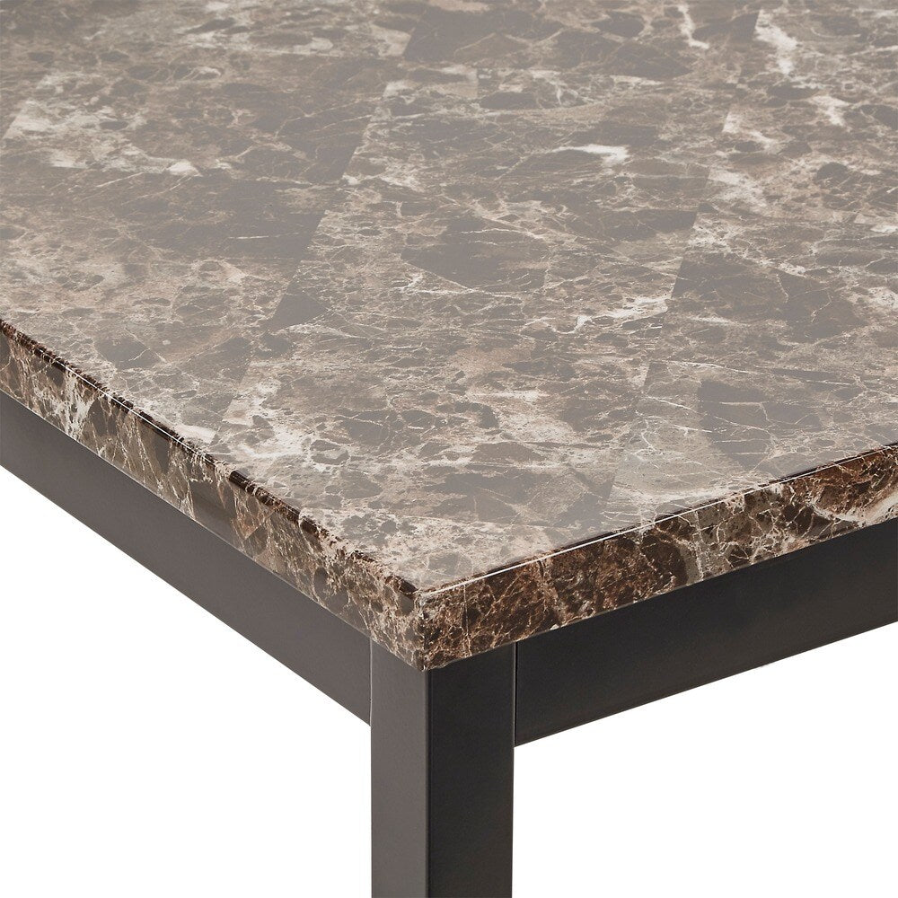 Faux Marble Top and Metal Base Dining Table
