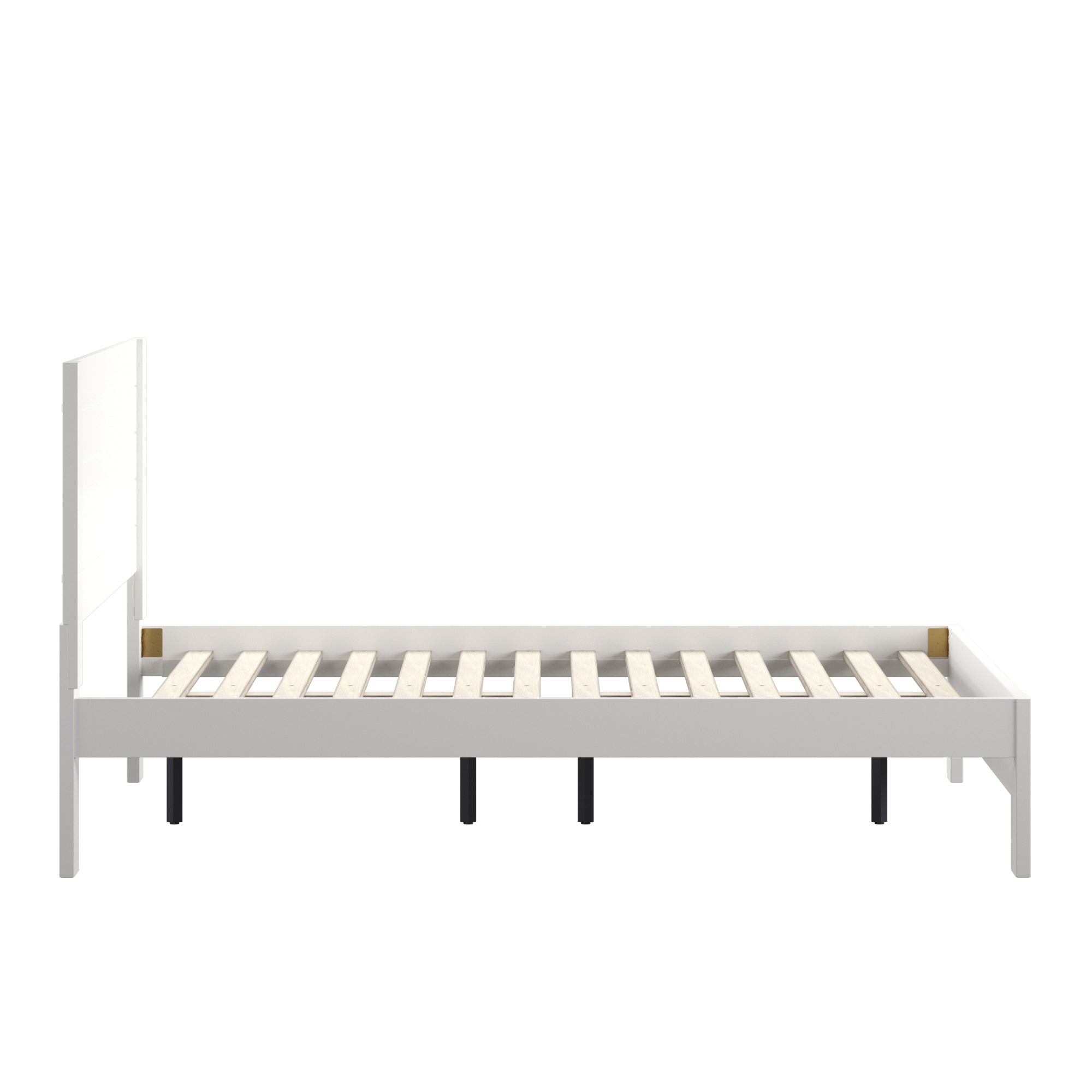 Horizontal Panel Platform Bed - White, Full