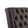 Tufted Wingback Hostess Chair (Set of 2) - Charcoal Color Finish