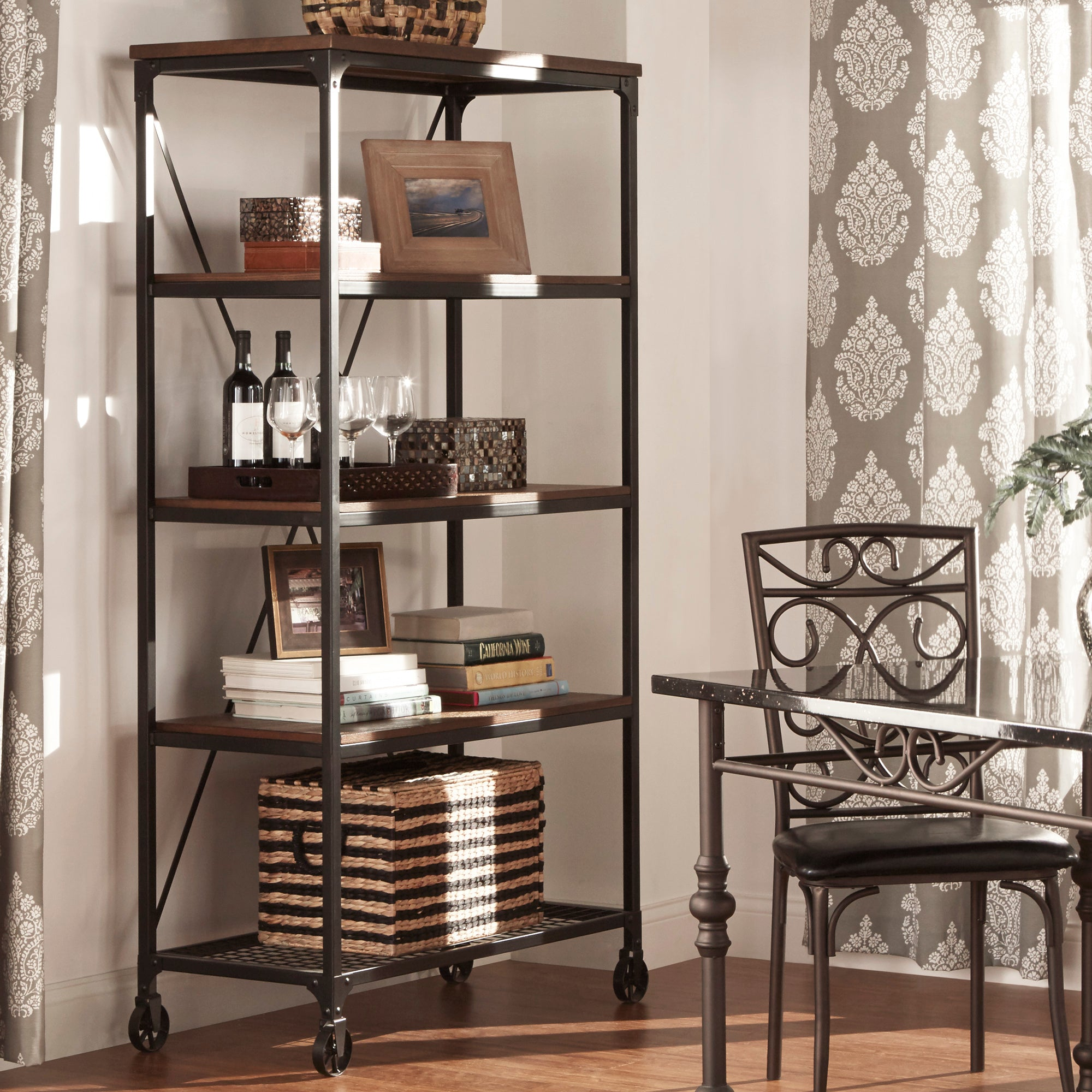 Industrial Modern Rustic 40-inch Bookcase - 40-Inch