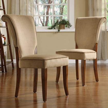 Velvet Upholstered Dining Chairs (Set of 2) - Peat