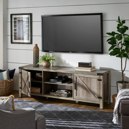 Grey Wash Finish TV Stand