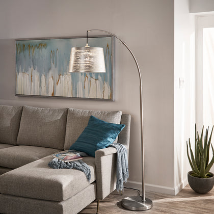 Arched Floor Lamp - Nickel Finish