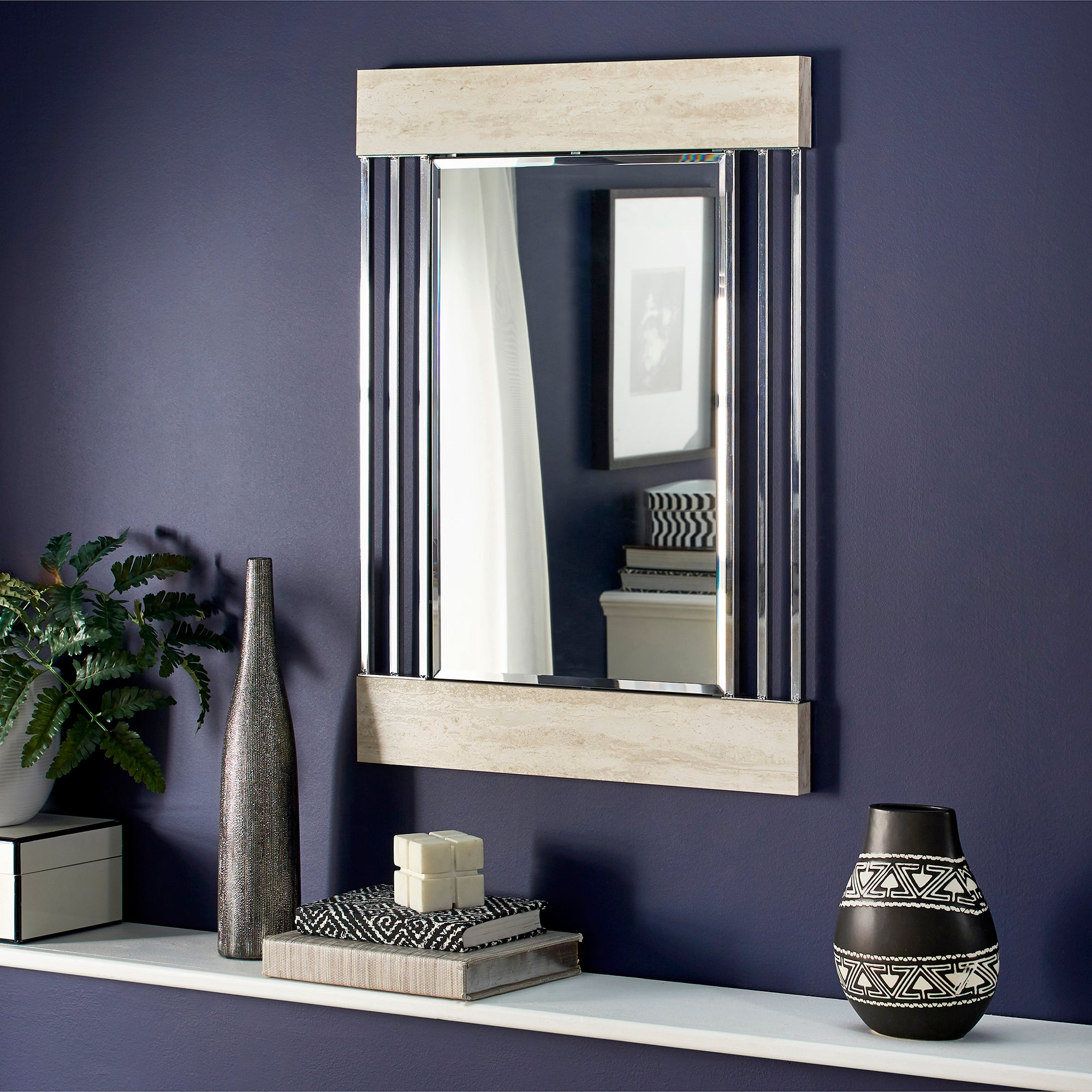 Chrome Finish Wall Mirror