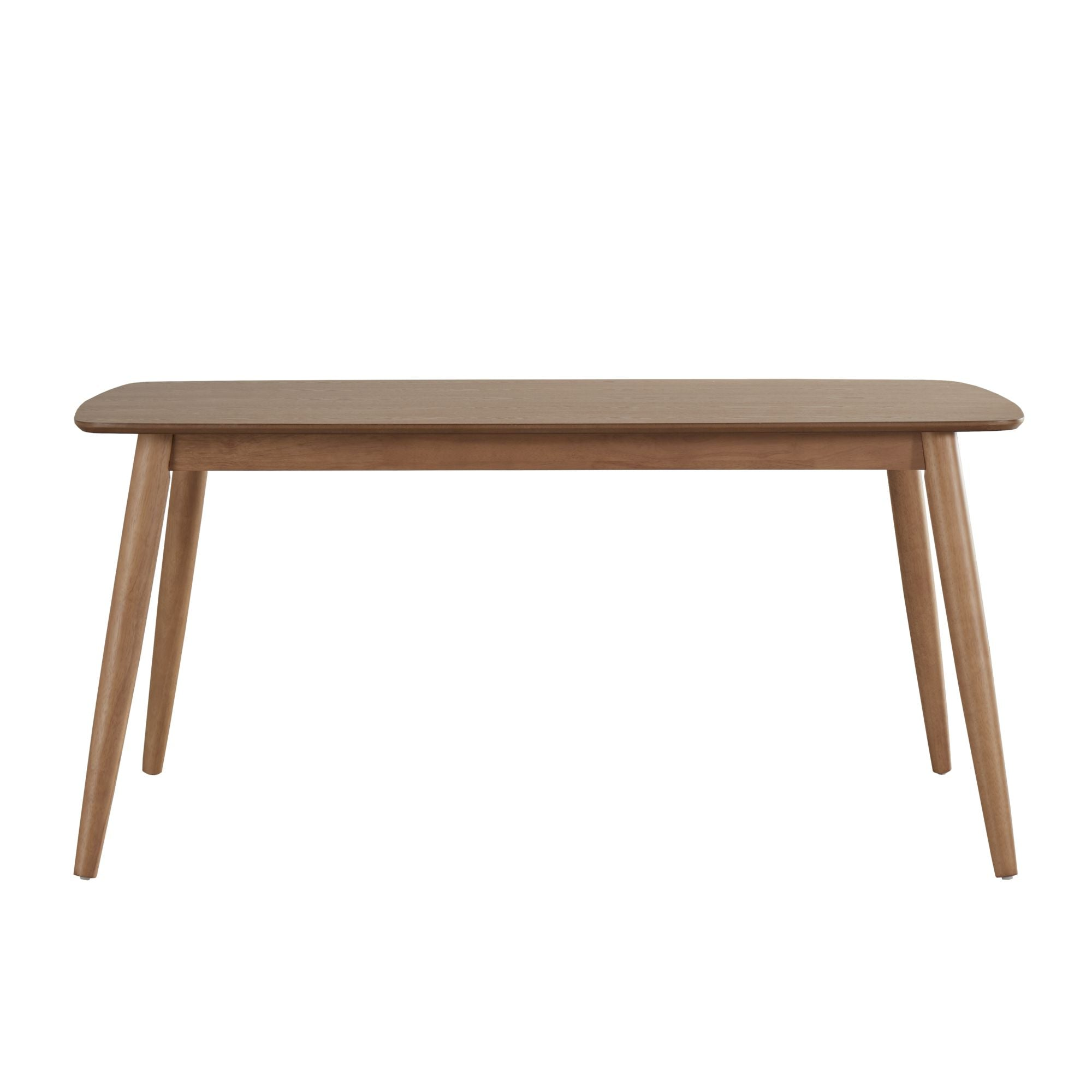 Mid-Century Modern Tapered Dining Table - Natural Finish, 63-inch