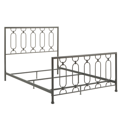 Metal Bed - Frost Grey, Queen Size (Queen Size)