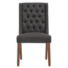 Tufted Linen Upholstered Side Chair (Set of 2) - Dark Grey Linen