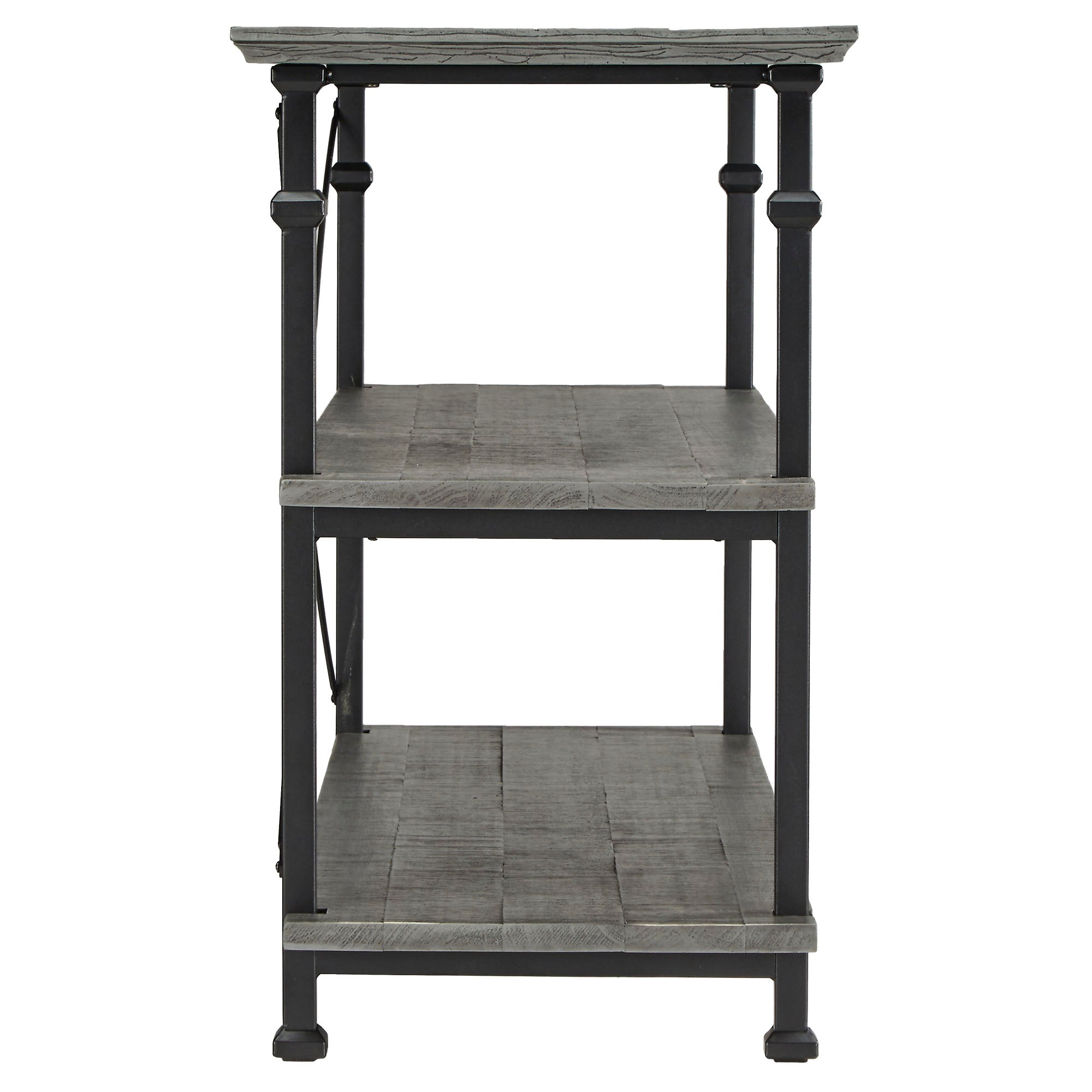 Vintage Industrial TV Stand - Grey Finish