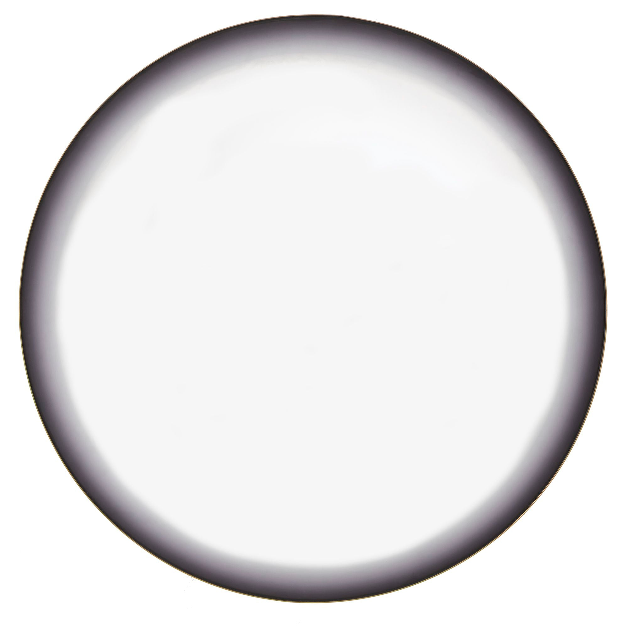 Grey Frosted Edge Round Wall Mirror