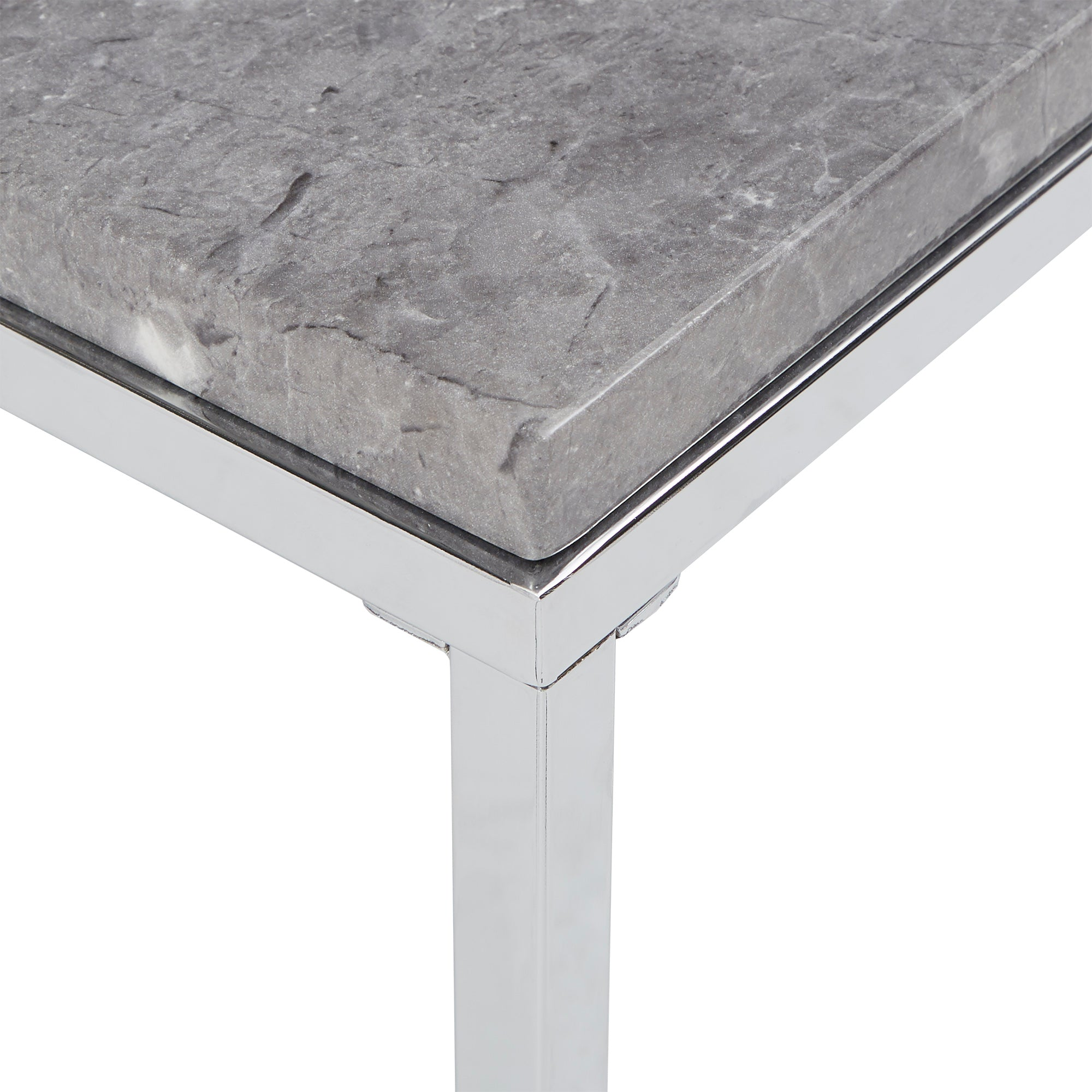 Grey Faux Marble End Table