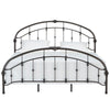 Curved Double Top Arches Victorian Iron Bed - Antique Dark Bronze, King Size