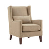 Wingback Nailhead Accent Chair - Beige Linen